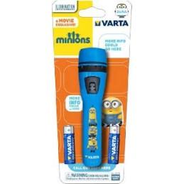 minions flashlight 2aatorcia per bambiniinvolucro robusto in plastica abs resistente1x 5mm led con lente di ingrandimento per fo