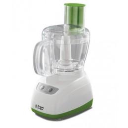 pratico robot da cucina color bianco con dettagli color verdecontrolli touch con pulsante on/offfunzione pulsecontenitore da 1,8