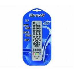 telecomando universale a 4 banchi di memoria; comanda contemporaneamente . 4 apparecchi differenti (tv-dtt/sat-dvd/vcr-sky).banc