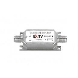 amplificatore di linea satguadagno: 20 db.frequenza: 950 - 2400 mhz.