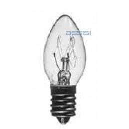 lampadina incadescenza oliva 7.5w 220v  e12conf. 50 pz.