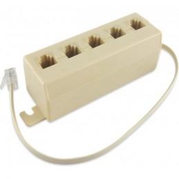 caratteristiche generaligenere: adattatoretipo connettore a: spina modulari 6p4ctipo connettore b: 5x presa modulari 6p4ccaratte