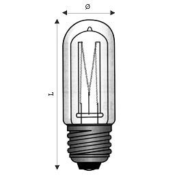 LAMPADA ALOGENA TUBOLAREATTACCO E 27200W220-230VLUMEN 398050HZRA >99LIFETIME 2000 h  DIMENSIONE 33X105 MM