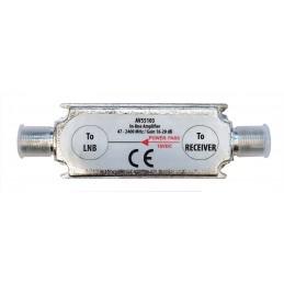 amplificatore di linea 16/20db 47-2400mhz attacco f .