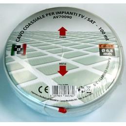 cavo coassiale 75ohm-6,8mm (100mt) - classe b.cavo conforme alle normative en50117-2-5 e alle direttive rohs e ceconduttore : cc
