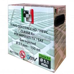 materiale : 100 % rame rossodiametro conduttore : 0,80 mmisolamento : alluminio / petdiametro isolamento :  3,40 mmdiametro este
