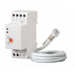 interruttore crepuscolare da quadro elettrico din con uscita relè da 20a e sonda da esterno per rilevamento della luce ambiental