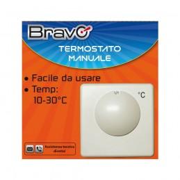 termostato manualefacile da installare e da utilizzarerange di temperatura regolabile da 10° a 30°possibilità di regolare il ran
