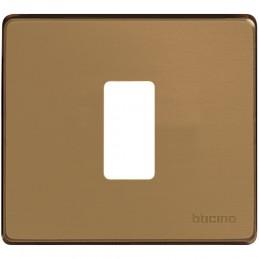 placca da 1 postoscatola tondacolore bronzo.