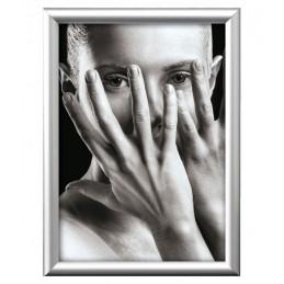 20x30  cornice alluminio argento satinato