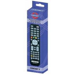 telecomando a tre banchi di memoria programmabile con facilitàsostituisce le principali funzioni degli apparecchi tv, vcr, dvd,
