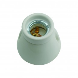 applique in porcellana base dritta.diametro 75mm, altezza 65mm, portalampada con attacco e27 e kit accessori inclusi.