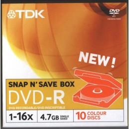DVDR+47 GB 16X SNAP  10 PZ....
