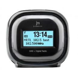 dim. cm. 10x9,5x9radiosveglia digitale con doppia modalità di ricezione frequenza, dab/dab+ e fm. tecnologia dab+ con informazio