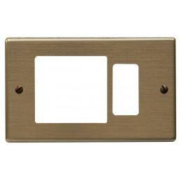 placche compatibili serie magicplacche alluminio anodizzato bronzo.1 posto schuko + 1 posto