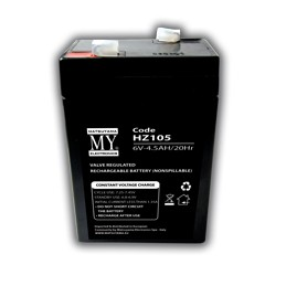 batteria al piombo 6v 4.5ah matsuyamadim. 70x48x106 mm
