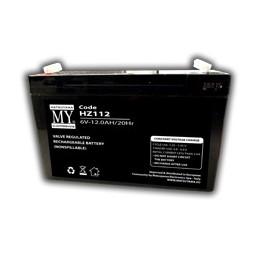 batteria al piombo  6v 12a faston 4.8mmdim. 151x50x99 mm