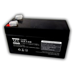 batteria al piombo 12v 1.3a faston 4.8 mmdim. 9.7x4.3x5.7 mm
