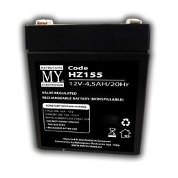 batteria al piombo 12v 4.5ah matsuyama a tenuta stagna, utilizzabile in qualsiasi posizione e senza bisogni di manutenzione, alt