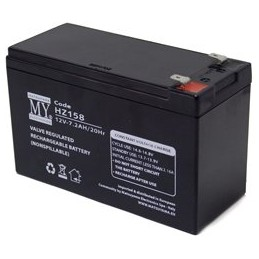 batteria al piombo 12v 7.2 ah matsuyama a tenuta stagna.utilizzabile in qualsiasi posizione e senza bisogno di manutenzione, alt