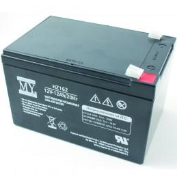 batteria al piombo 12v 12 ah matsuyama a tenuta stagna.utilizzabile in qualsiasi posizione e senza bisogno di manutenzione, alta