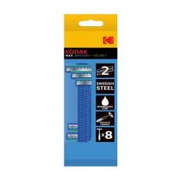 • 2 lame• acciaio svedese• striscia lubrificante di aloe vera• impugnatura anti scivolo ingomma di 11.3cm• protezione in plastic