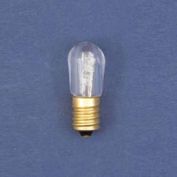 confezione 4 lampada ricambio incandescenza trasp. attacco e14 virola 14v 0,35a luce fissa (blu xk art. conf4-laco e14).