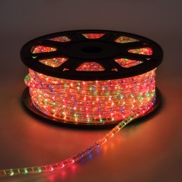 tubo luminoso pn-pf a1 ø13mm 50m 1800 lampade incandescenza verticali multicolor, serie pn professional 13 a1 (1 canale, 2 cavi