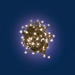 catena lineare mb 10 led classic ø5mm reflex, luce fissa, 230v, uso interno, cavo verde, dimensioni 1,5+1m, sacchetto con carton