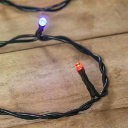catena lineare mb 20 led multicolor ø5mm reflex, luce fissa, 230v, uso interno, cavo verde, dimensioni 1,5+2m, sacchetto con car
