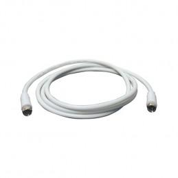 cavetto satellite, f/f, spina-spina da 1,5mt., colore bianco, confezione in blister.