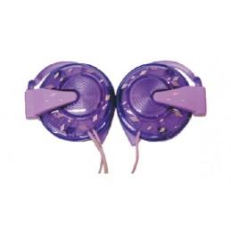 auricolari stereo hook on jack 3.5 mm. impedenza 32 ohm, sensibilit 105 db, colore viola. ideali per lettori mp3/mp4, consolle g