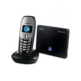 una chiamata ip e una analogica contemporaneeconfigurazione manuale del provider voip tramite web configuratorfino a 6 portatili