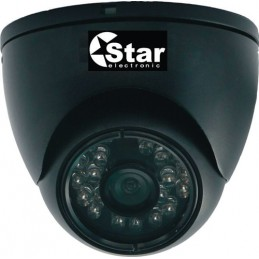 telecamera a cupola infrarosso 24 led waterproof ip 65 ccd sony lente 3.6mm.