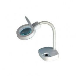 lampada con lente di ingrandimento in vetro.questa lampada è particolarmente indicata per i lavori di precisione in ufficio o in
