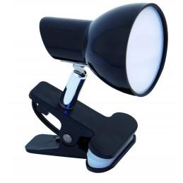 lampada da tavolo/ scrivania con clip; si attacca dappertutto: sul comodo, sul letto, alla scrivania.luce 360 lumen con diffusor