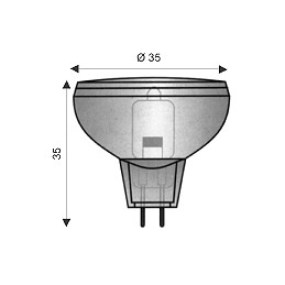 lampade alogene con riflettore uv-stop 12/24v dicroiche rinforzate mr11/p gu4con vetro di protezione ø 35 mmutilizzo senza ulter