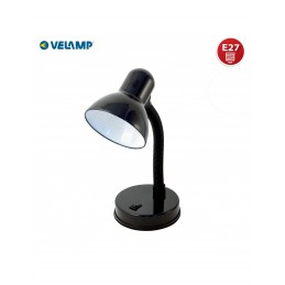 CHARLESTON LAMP. DA TAVOLO NERA E27 VELAMP