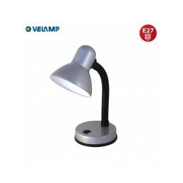 CHARLESTON LAMP. DA TAVOLO SILVER E27 VELAMP