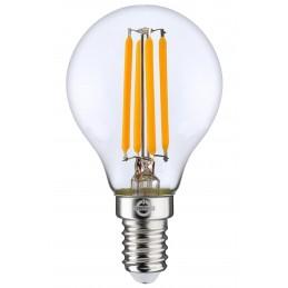 LAMPADA FILO-LED SFERA ALTA EFFICIENZA 4W 470LMN E14 CHIARA 2700K 30000H CONTAKT