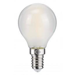 LAMPADA FILO-LED SFERA ALTA EFFICIENZA 4W E14  SMERIGL.3000K 30000H CONTAKT